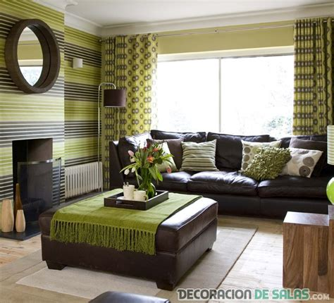 awesome blue lime green and brown living room decor salones combinados en verde y marr 243 n