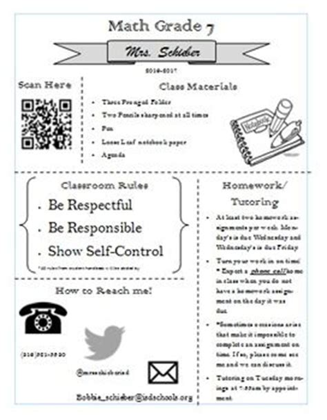 middle school syllabus template 1000 ideas about middle school syllabus on