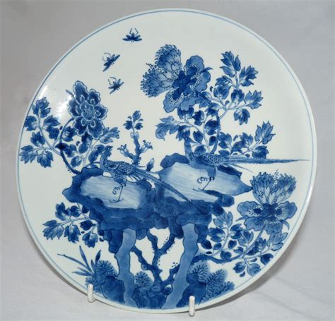 blue and white porcelain kangxi blue and white porcelain 18th century plate by
