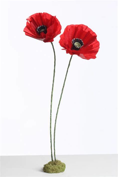 Paper Poppies - tutorial paper poppy