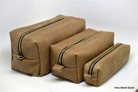 Handmade Leather Dopp Kit - personalized handmade leather dopp kit gifts for groomsmen