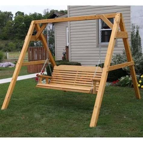 wood swing frame building wooden swing frame pinteres