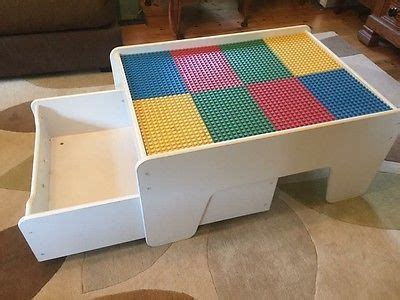kids table with drawers lego duplo kids play table with storage drawer made by
