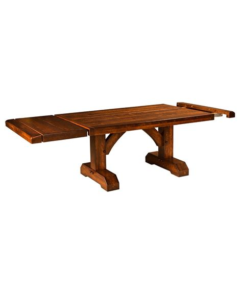 trestle table with leaves dining table furniture amish direct furniture