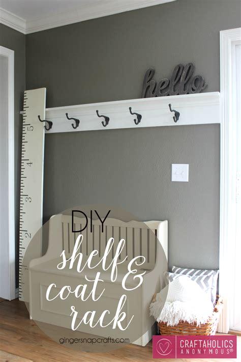 Diy Rack Shelf by Craftaholics Anonymous 174 Diy Shelf And Coat Rack