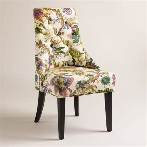 floral dining room chairs grape garrison floral lydia dining chairs set of 2