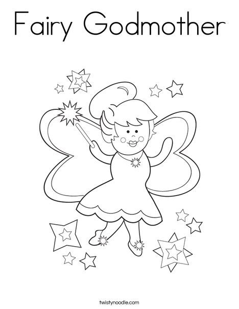 fairy godmother coloring pages fairy godmother coloring page twisty noodle