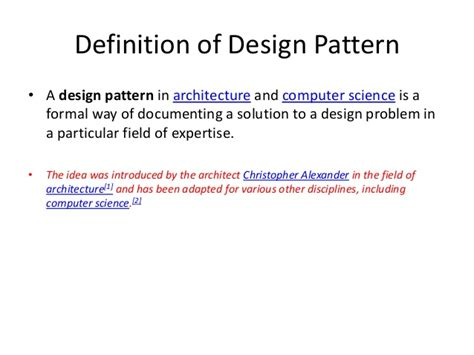 Design Definition In Mechanical | mechanical design pattern introduction