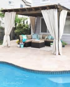 Cabana Patio Makeover With Diy Drop Cloth Curtains » Home Design 2017