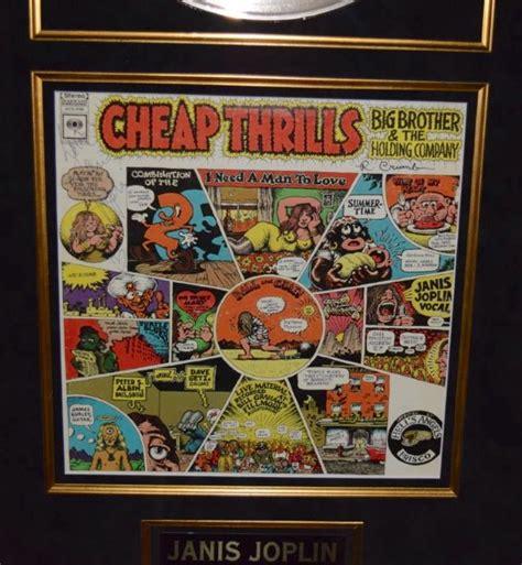 janis joplin cheap thrills front  signed covers janis joplin robert crumbrock star