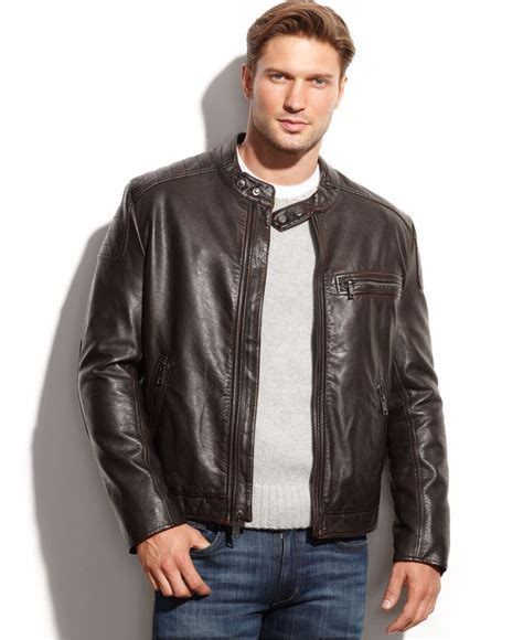 Marc Tanggal Brown 1 marc new york s leather jackets cairoamani