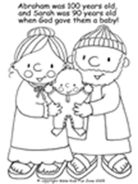 coloring page of baby isaac abraham sunday school lesson abraham bible lesson