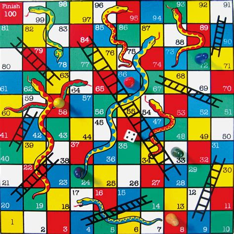 Picture Of Snakes And Ladders Board