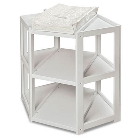 Corner Changing Table White Badger Basket Corner Changing Table White Free Shipping