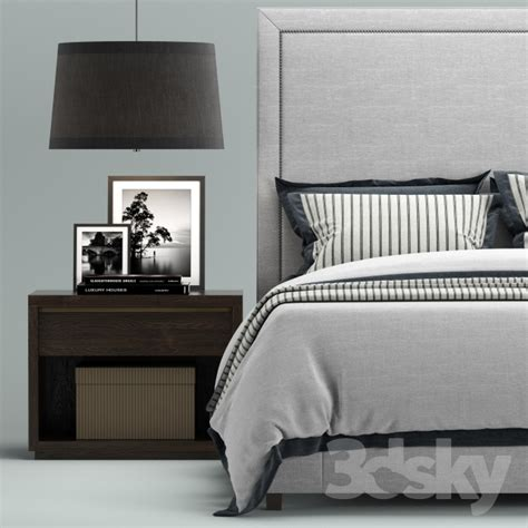 restoration hardware upholstered bed 3d models bed restoration hardware wallace upholstered bed