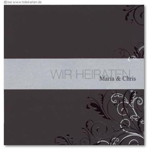 Einladungskarten Hochzeit Schwarz by Schwarz Hochzeitskarten