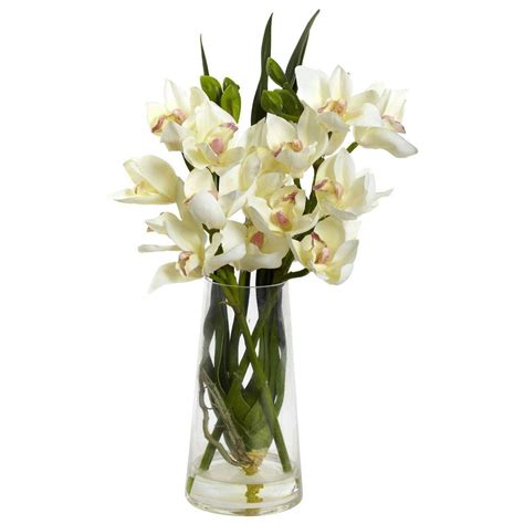 decorative vase vases flower vase flowers orchid white just add ice orchids 5 in orchid in ceramic deco pot