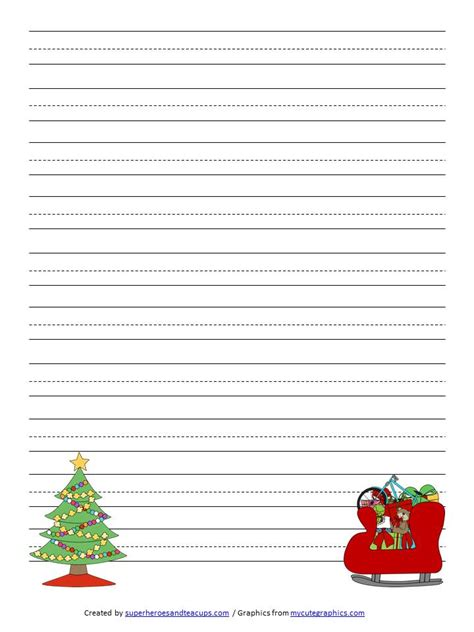 printable christmas story paper christmas handwriting paper free printable