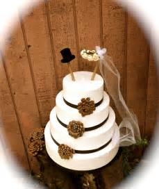 rustic wedding cake topper groom cake topper