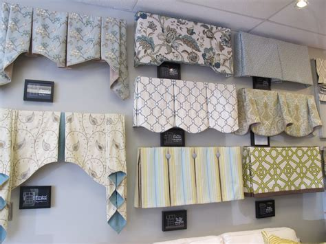 a variety of window treatment valances cornice boards