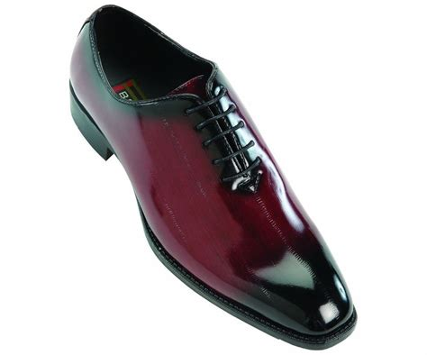 burgundy dress shoes bolano mens patent burgundy black lace up wing