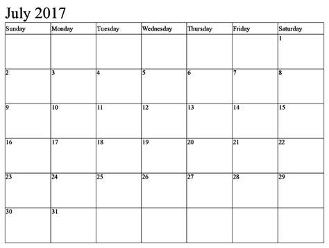 printable calendar 2017 editable july 2017 calendar editable calendar template letter