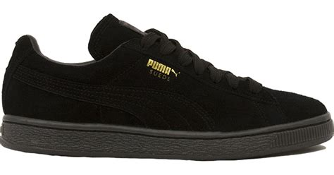 Suede Mono Black lyst s suede classic mono iced sneakers in black