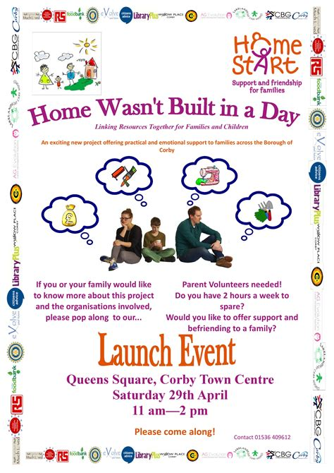 home start launch event willow place corby town centre
