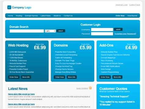 Free Html free web hosting template css html