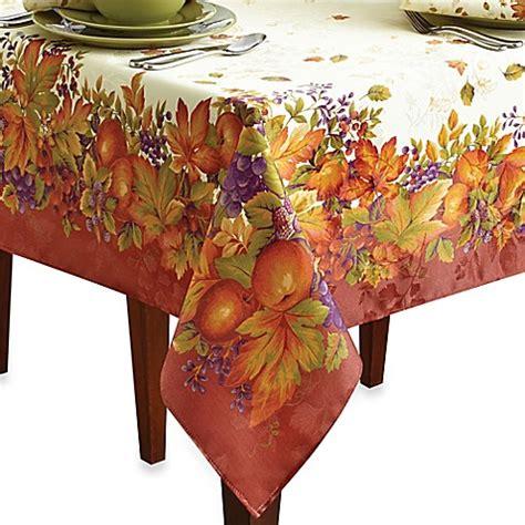 autumn harvest table linens harvest jubilee spice table linens bed bath beyond