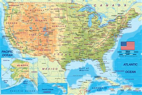 us world map map of united states the usa map in the atlas of the