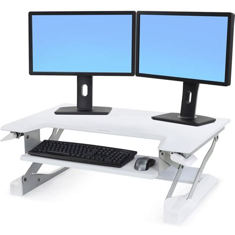 dual workstation computer desk cool adjustable monitor stand for desktop workstation