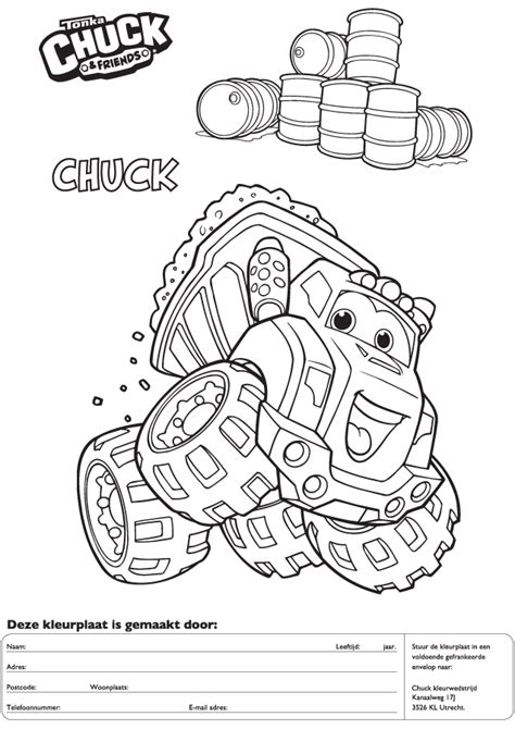 chuck and friends printable coloring pages