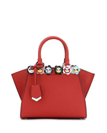 Fendi 3jours Stud Set Seprem fendi 3jours mini floral stud tote bag pattern