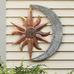 Sun and moon metal wall art multi metallic