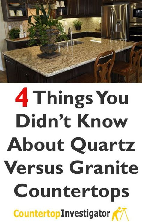 Things To About Granite Countertops 4 things you didn t about quartz vs granite granite countertops countertops and granite