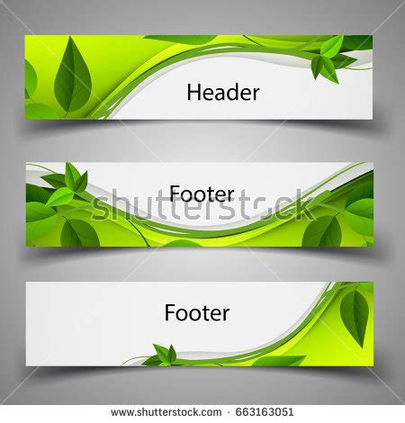 Footer Stock Images Royalty Free Images Vectors Shutterstock Header Template
