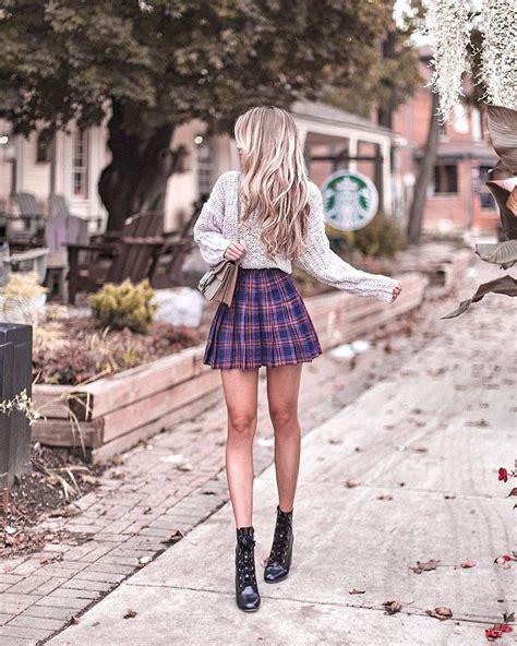 kerina wang  instagram  happy plaid pleated skirts