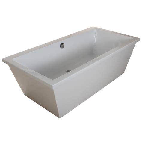 5 foot freestanding bathtub aqua eden contemporary 5 5 ft acrylic flatbottom