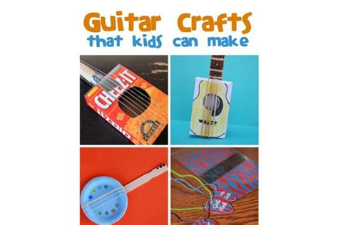 craft ideas for musical instruments guitar crafted playtime