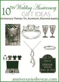 10th Anniversary   Tenth Wedding Anniversary Gift Ideas