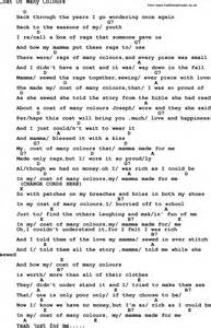 coat of many colors dolly parton lyrics dolly parton song coat of many colours lyrics and chords