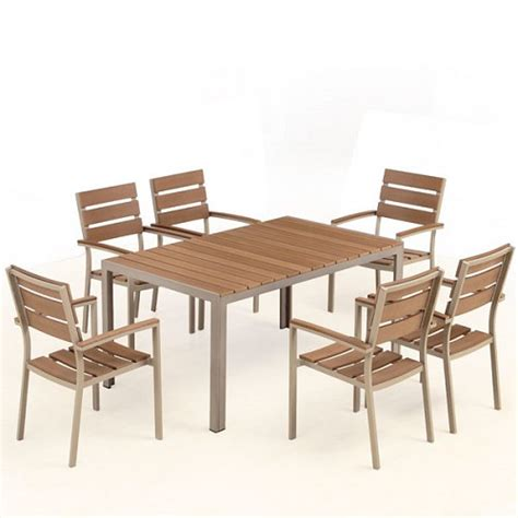 6 Seat Patio Dining Set Bow 6 Seat Outdoor Dining Set Ceets Metropolitandecor