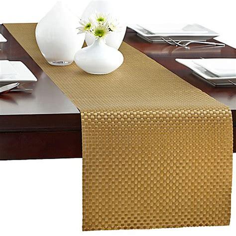 vinyl table runner modern bistro woven vinyl table runner bed bath beyond