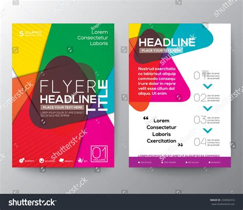 flyer templates size abstract colorful brochure flyer design layout stock
