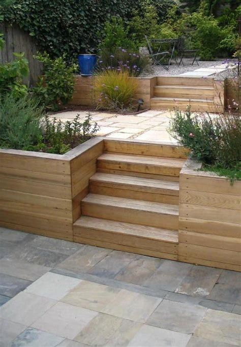 Terraced Garden Retaining Wall Bay Area Back Yard Wooden Garden Wall