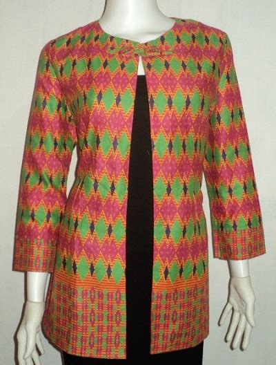 Baju Gamis Blazer Panjang 16 Contoh Model Baju Batik Blazer Paling Laris 2017 1000