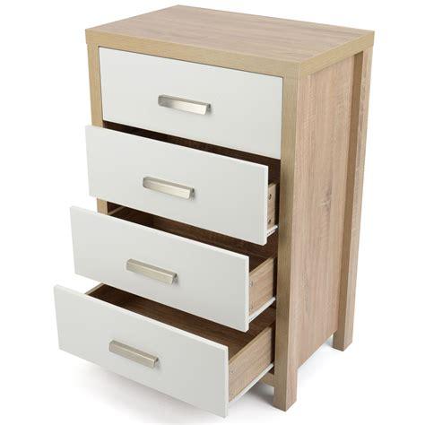 Oak Effect Bedroom Furniture Bianco White Light Oak Effect Modern Bedroom Furniture Chest Drawers Bed Side Ebay