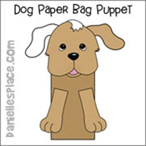 dog puppet pattern paper bag dog crafts and learning activities for kids