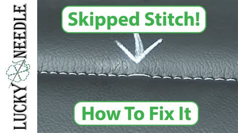 how to fix upholstery how to fix a skipped stitch upholstery tips and tricks